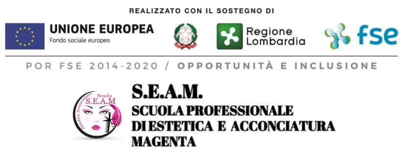 S.E.A.M. scuola professionale estetica acconciatori Magenta milano via crivelli 25/A
